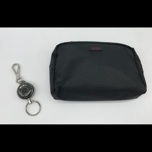 TUMI Retractible Key Rin w/Toiletry Bag Kit